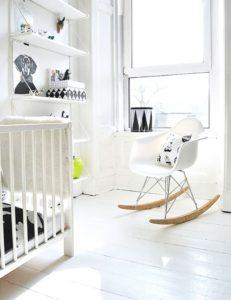 Silla mecedora Eames Rocking chair blanco